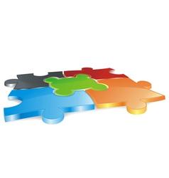 puzzle field vector image