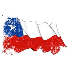 Chile flag grunge vector