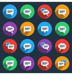 Speech bubble icons in flat style vector