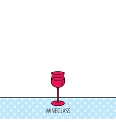 Wineglass icon goblet sign vector