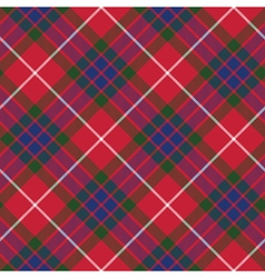 Fraser tartan seamless pattern diagonal fabric vector