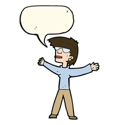 Cartoon woman wearing glasses with speech bubble vector