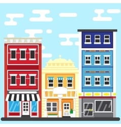 Printcity street building vector