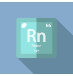 Chemical element radon flat vector