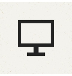 Flat monitor icon vector