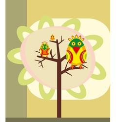 Tree Birds vector image