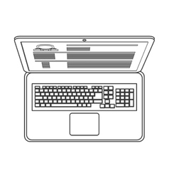 Laptop topview icon vector