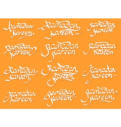 Collection of ramadan kareem vector
