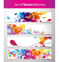 Abstract floral Banner vector image