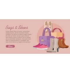 Bags shoes flat design concept vector