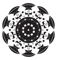 Black and white - mandala vector