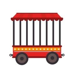 Cage tent wheels icon vector