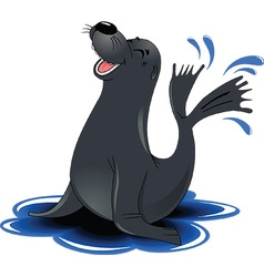 Cartoon seal vector image vector image