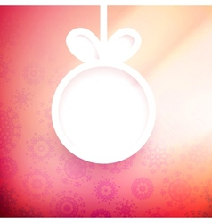 Christmas applique background EPS10 vector image vector image