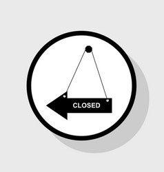 Closed sign flat black icon vector
