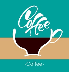 coffee cup lettering template vector image