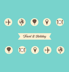 Collection stock of travel and holiday style vector