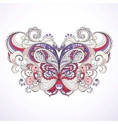 colorful abstract butterfly vector image vector image