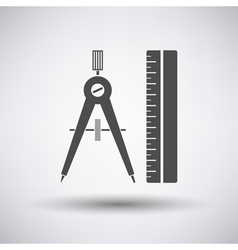 Compasses and scale icon vector