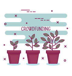 Crowdfunding sponsor project raise cooperation vector