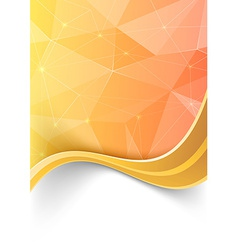 Crystal background with swoosh gold border vector image vector image
