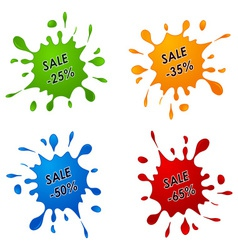 Discount sale pointer as the spilled paint vector image