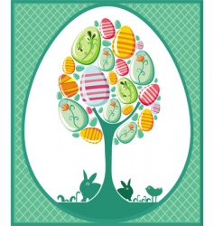 Easter egg tree vector image vector image
