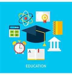 Education flat concept vector