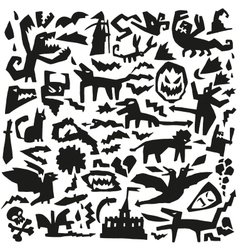 evil doodles vector image