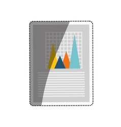 Financial chart report vector