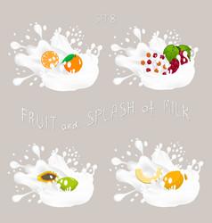 for set fruits vector image