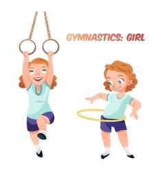 Girl doing gymnastic exercises vector