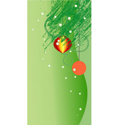 green ornate x-mas backdrop vector image vector image
