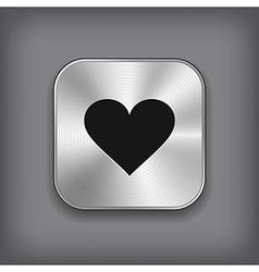 Heart icon - metal app button vector