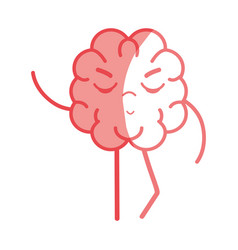 icon adorable kawaii brain expression vector image