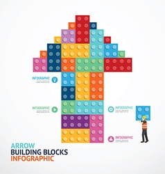 Infographic Template with arrow shape building vector image
