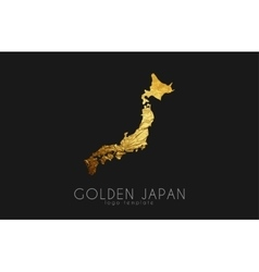 Japan map Japan logo Creative Japan logo design vector image