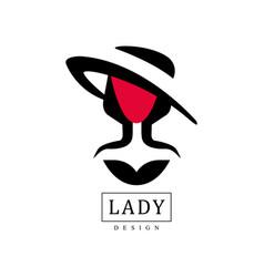 lady design fashion beauty salon studio or vector image vector image