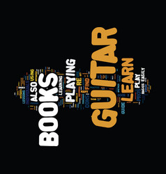Learn to play guitar books text background word vector
