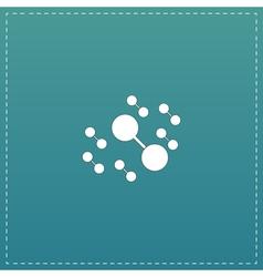 Molecule atom icons vector
