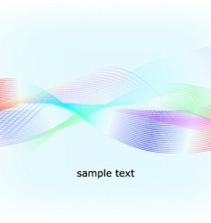 multicolored waves vector image vector image