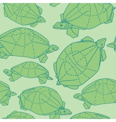 Origami turtles drawing vector image vector image