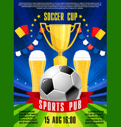 poster for soccer football sports pub vector image
