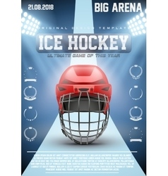 Poster Template of Ice Hockey Games vector image vector image