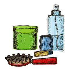 remedies of hair care vector image vector image