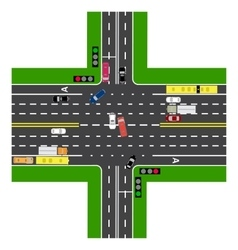 Road infographics most of the highway vector