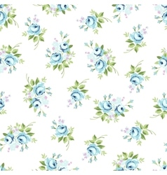 Seamless floral pattern with blue rose vector image vector image