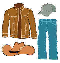 Set of men clothes vector