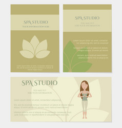 Set of spa studio business cards vector