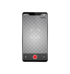 Smartphone with frame less recording video vector